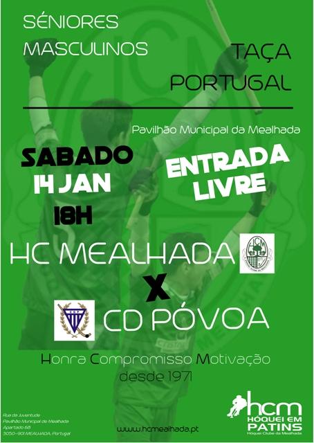 TAÇA DE PORTUGAL – HCM – CD PÓVOA, SÁBADO 18 HRS