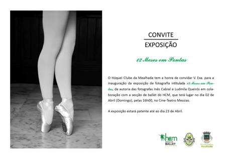 """CONVITE: Visite a exposição da academia de dança do HCM """"12 meses em pontas!"""