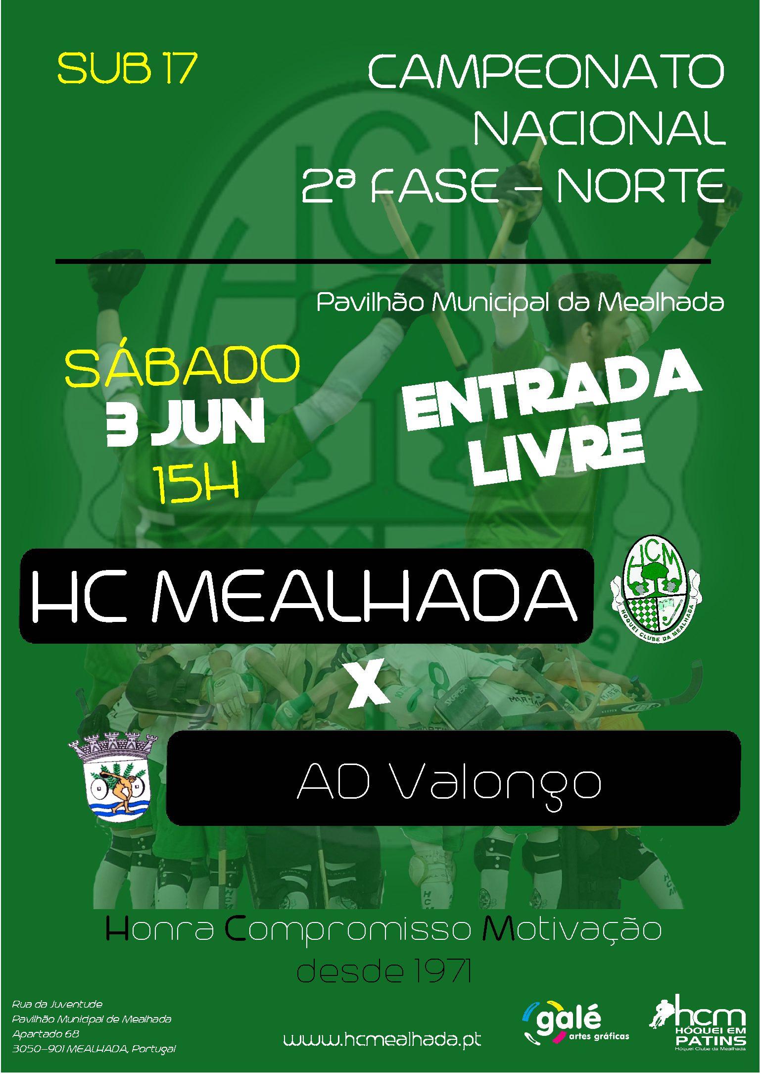 Sub17 do HCM têm amanhã jogo decisivo contra o AD Valongo