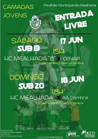 Confira os jogos do fim-de-semana da formação HCM no Pav. Mun. da Mealhada