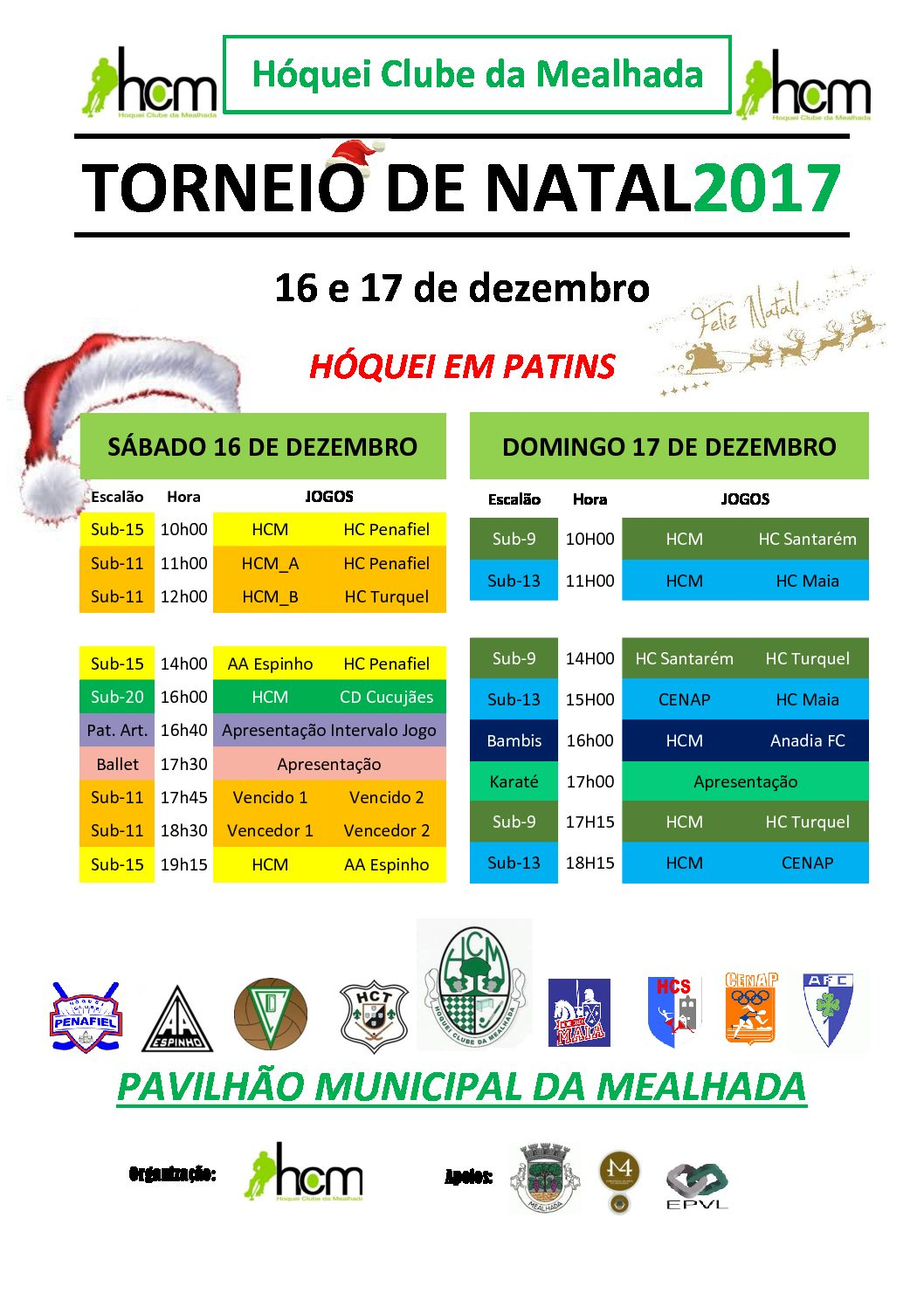 HC Mealhada organiza no Sábado e Domingo o seu Torneio de Natal