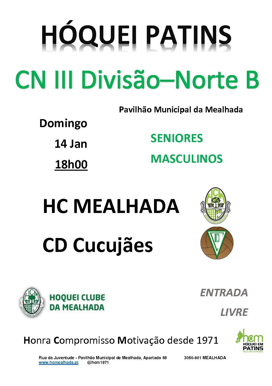 Séniores do HCM defrontam o CD Cucujães no domingo!