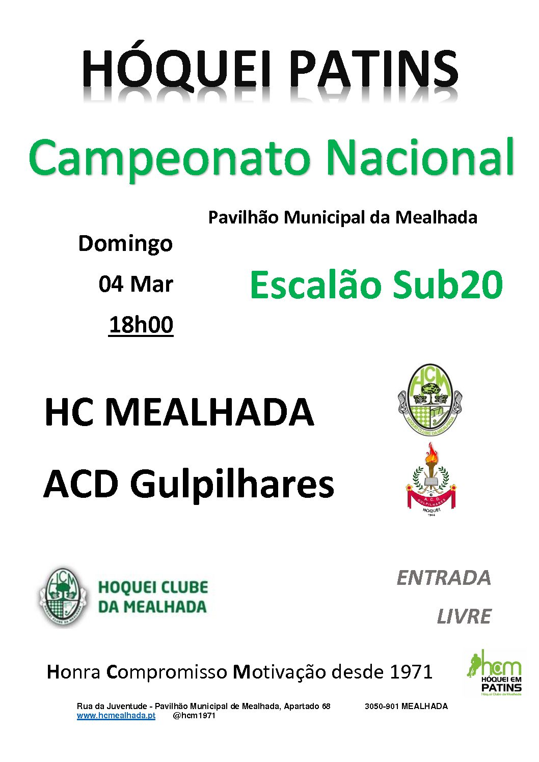 Sub20 do HCM defrontam ACD Gulpilhares na 4ª Jornada do Campeonato Nacional