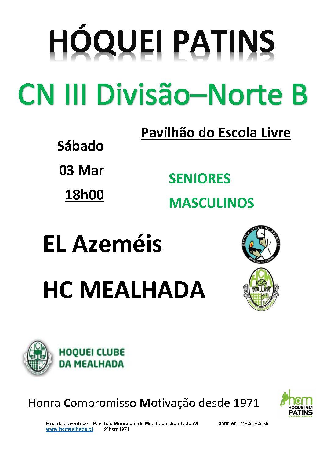 Séniores do HCM defrontam a EL Azeméis no próximo Sábado