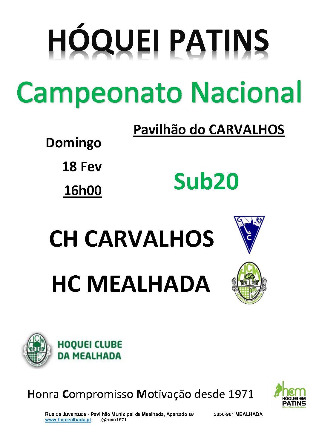 Sub20 do HCM jogam segundo jogo do Campeonato Nacional em Carvalhos