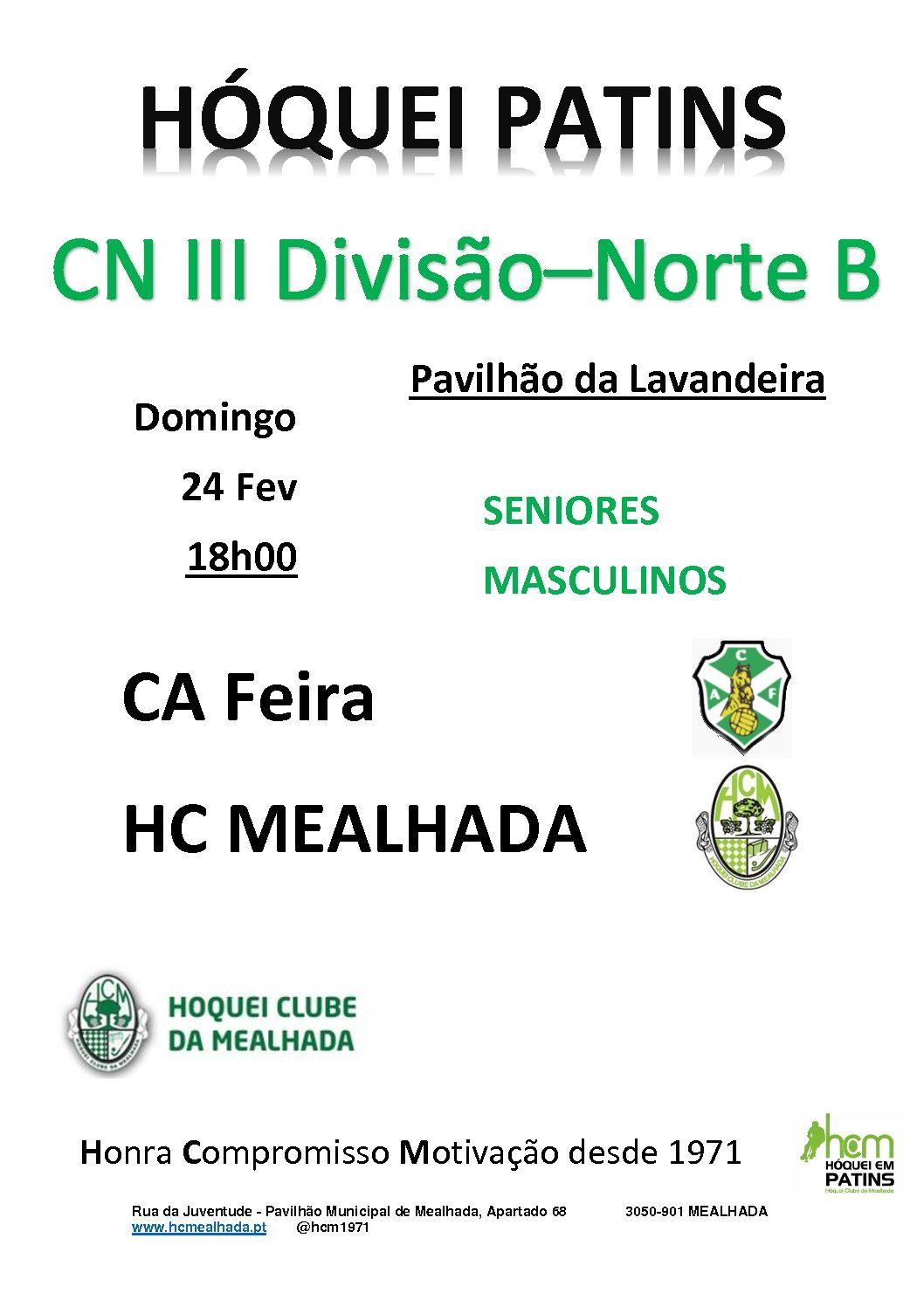 Séniores do HCM jogam em Vila da Feira no próximo Domingo