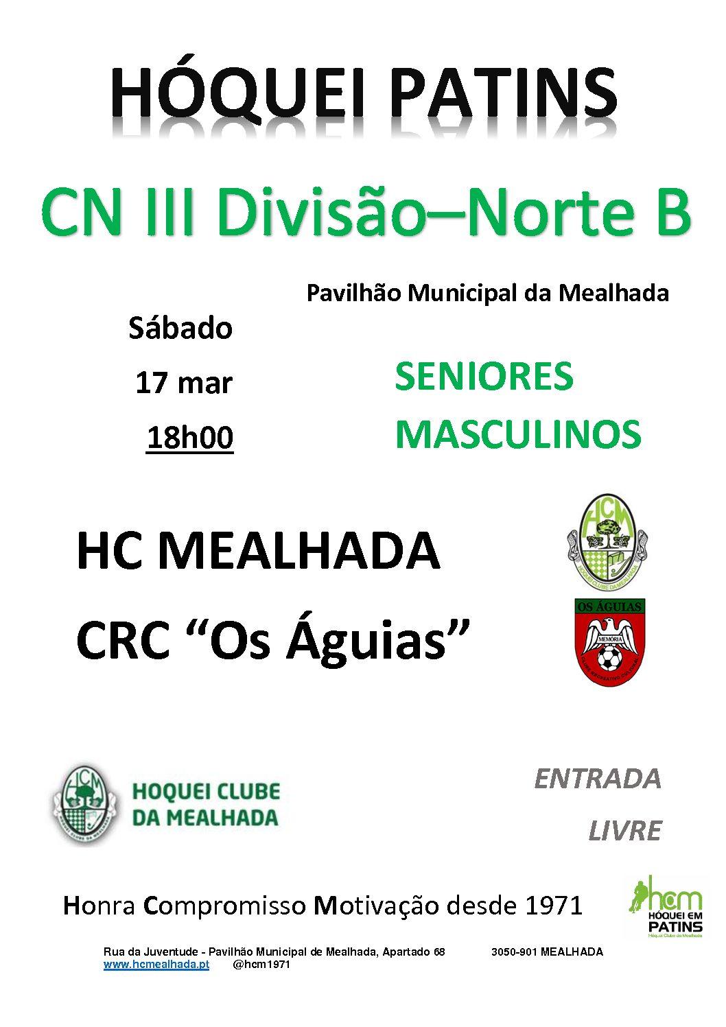 """Séniores do HCM """"regressam"""" amanhã a casa  para jogo contra o CRC """"Os Águias"""""""