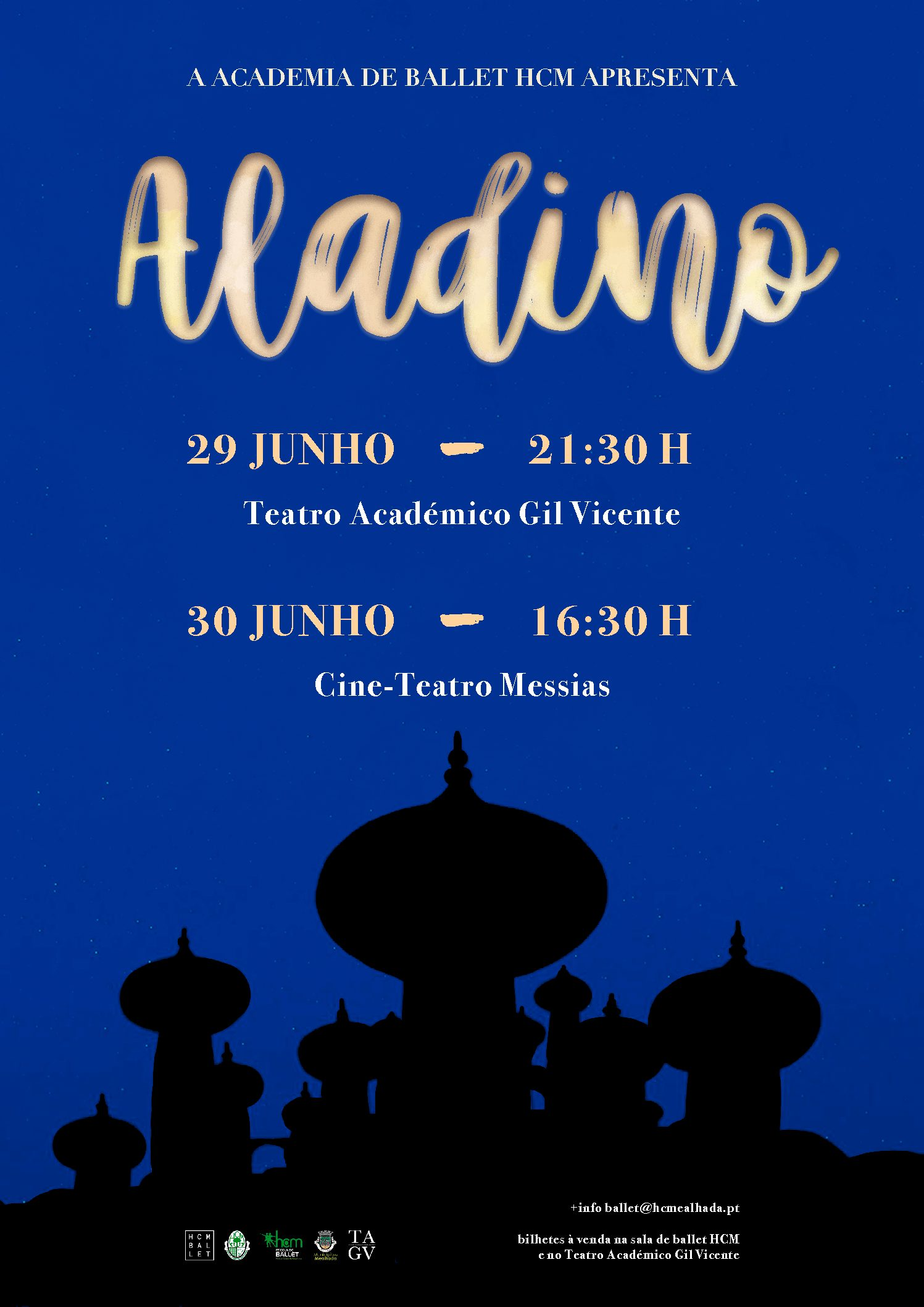 Ballet do HCM apresenta nos dias 29 e 30 de Junho o espectáculo Aladino