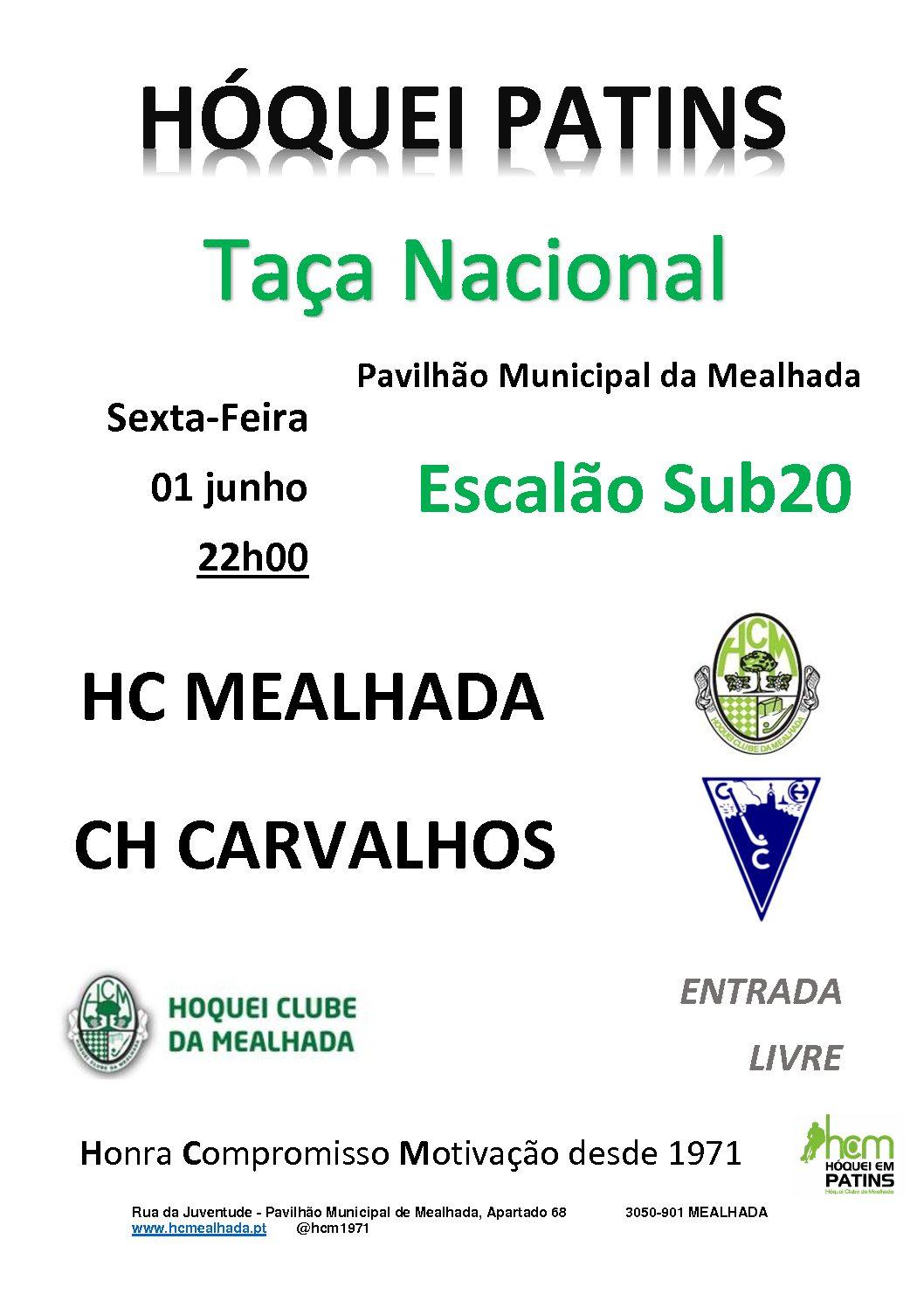 Sub20 do HCM recebem hoje o CH Carvalhos