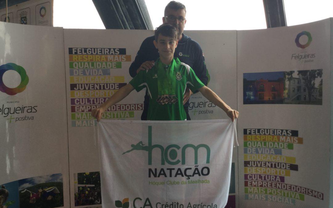 Eduardo Gabriel Vieira do HC Mealhada/Crédito Agrícola bate Record Regional dos 50 e 100 Livres Piscina Curta