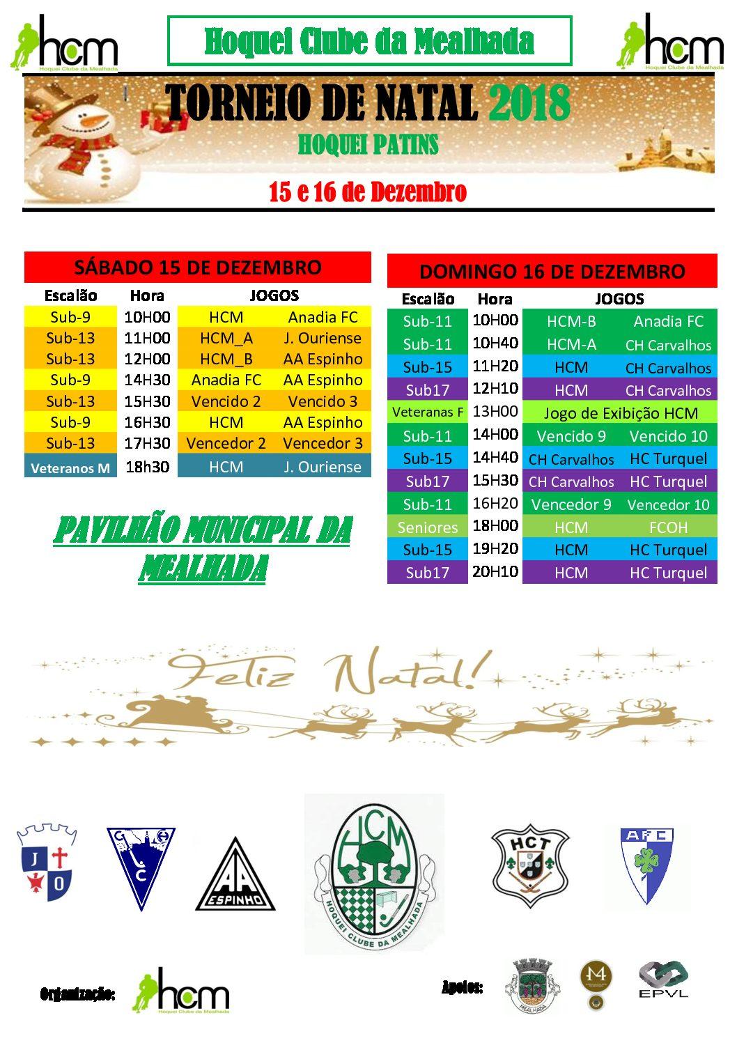 HCM organiza o seu torneio de Natal nos dias 15 e 16 de Dezembro