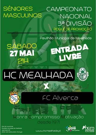 Séniores do HCM defrontam Sábado o FC Alverca com o objectivo da subida de divisão