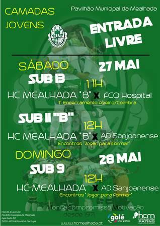 Confira os jogos de fim-de-semana da formação do HCM no Pav. Mun. da Mealhada