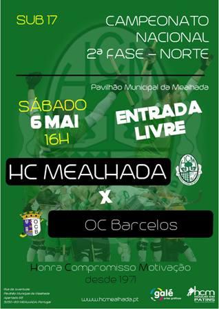 Sub17 iniciam fase final do CN em jogo com o OC Barcelos, Sábado, às 16h, no Pav. Mun. Mealhada
