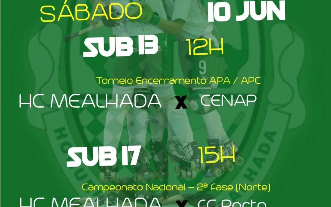 CONFIRA OS JOGOS DO FIM-DE-SEMANA DA FORMAÇÃO DO HCM NO PAV. MUN. MEALHADA