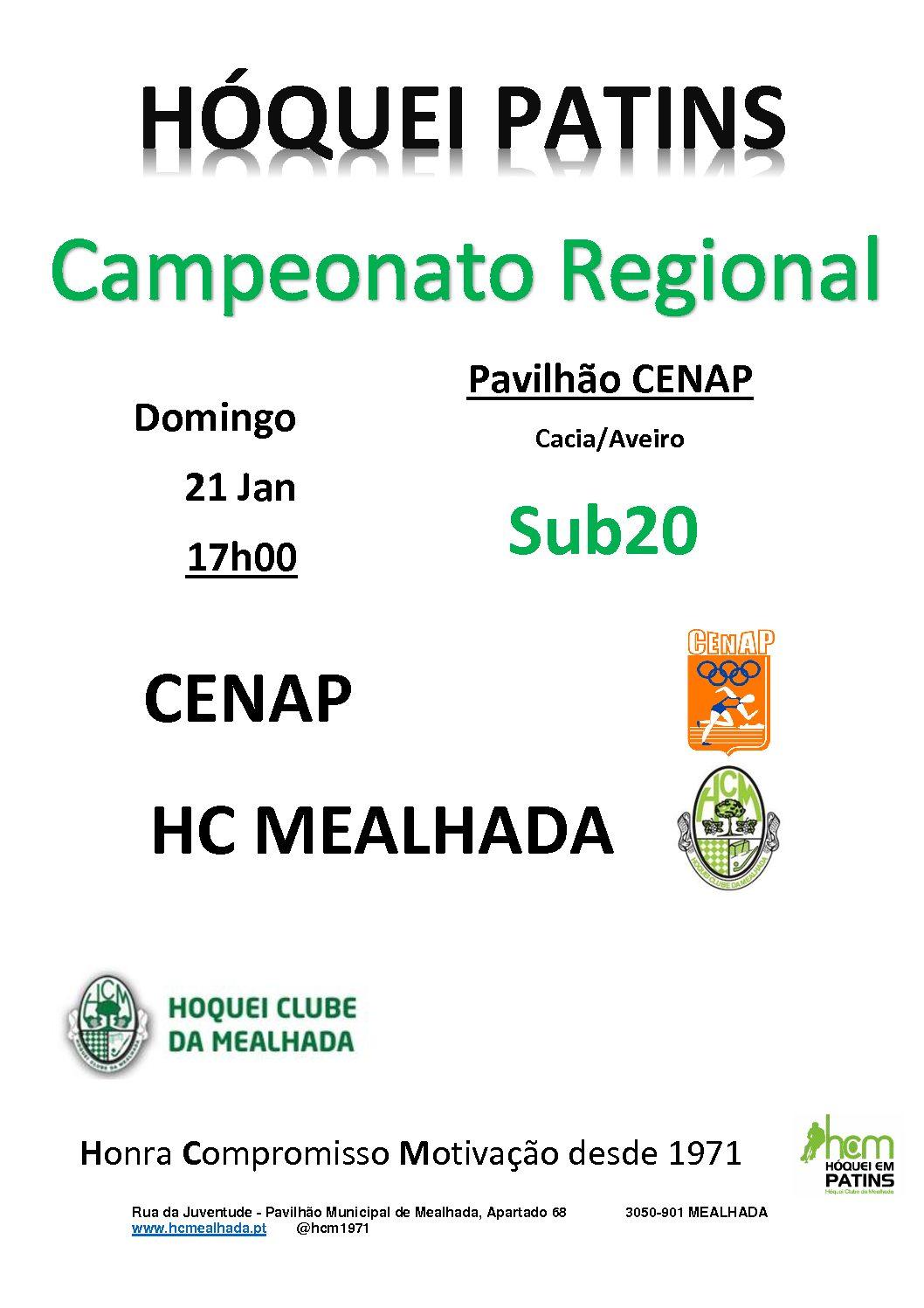 Sub20 jogam último jogo do Campeonato Regional em casa do CENAP