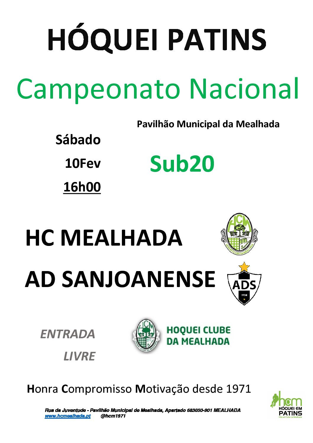 Sub20 do HCM iniciam participação no Campeonato Nacional no próximo Sábado em casa