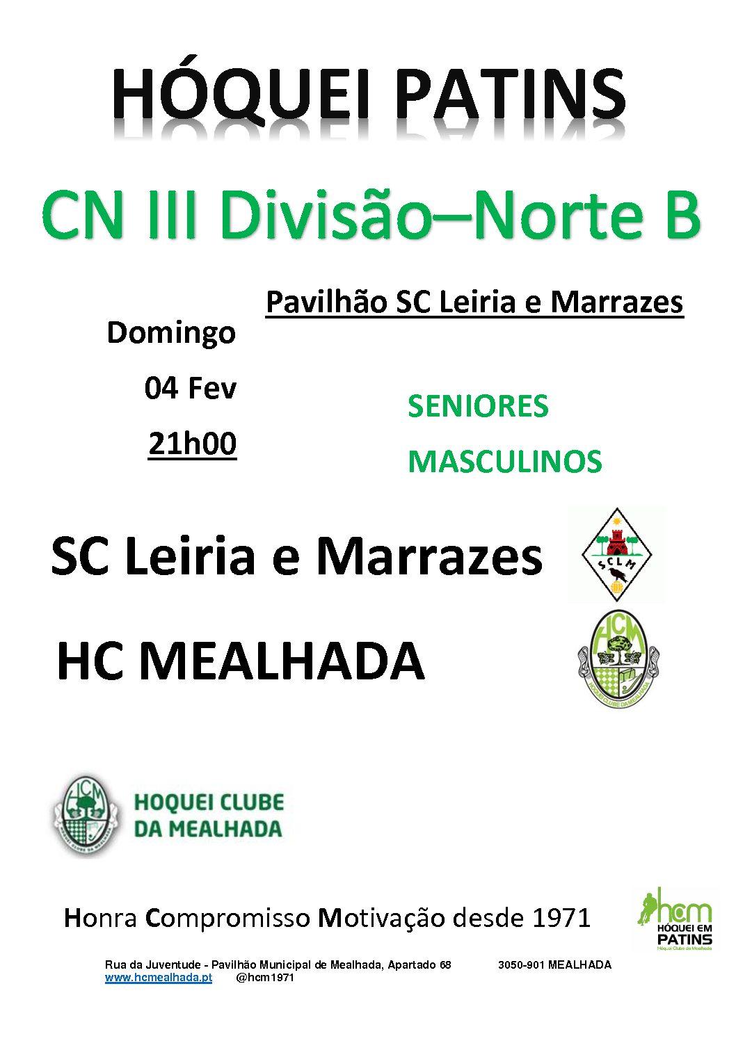 Séniores do HCM jogam amanhã em Marrazes