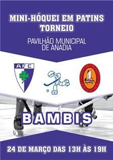 Bambis do HCM participam no Torneio de Mini-Hóquei do Anadia FC