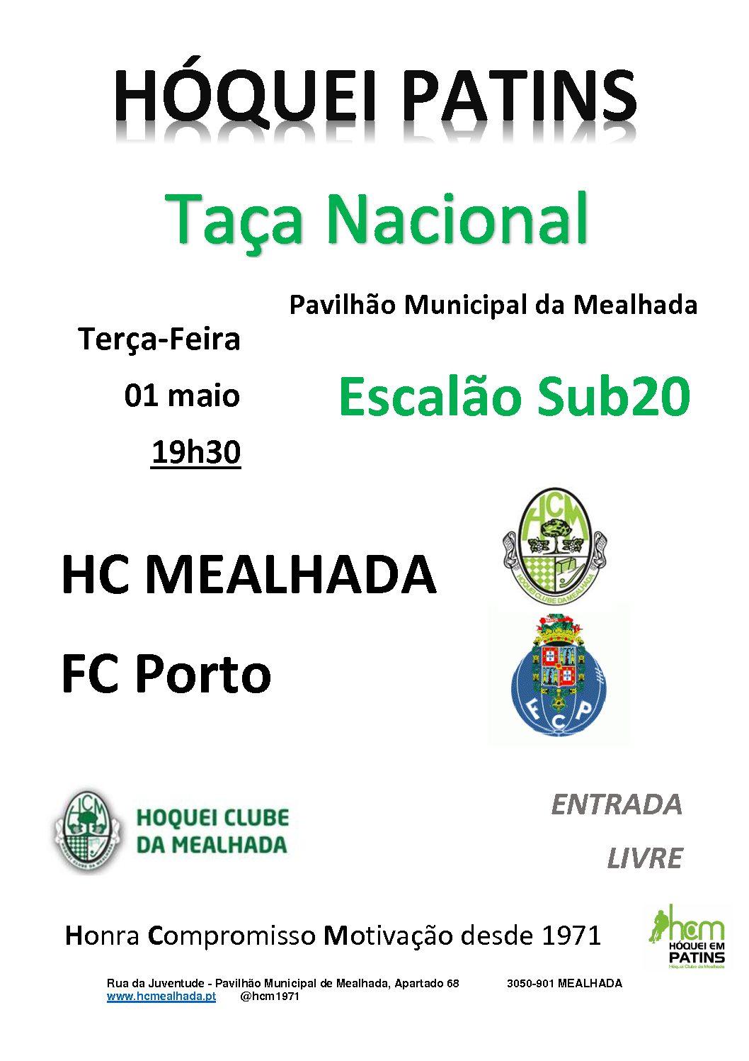 Sub20 do HCM jogam amanhã contra o FC Porto no Pavilhão Municipal da Mealhada