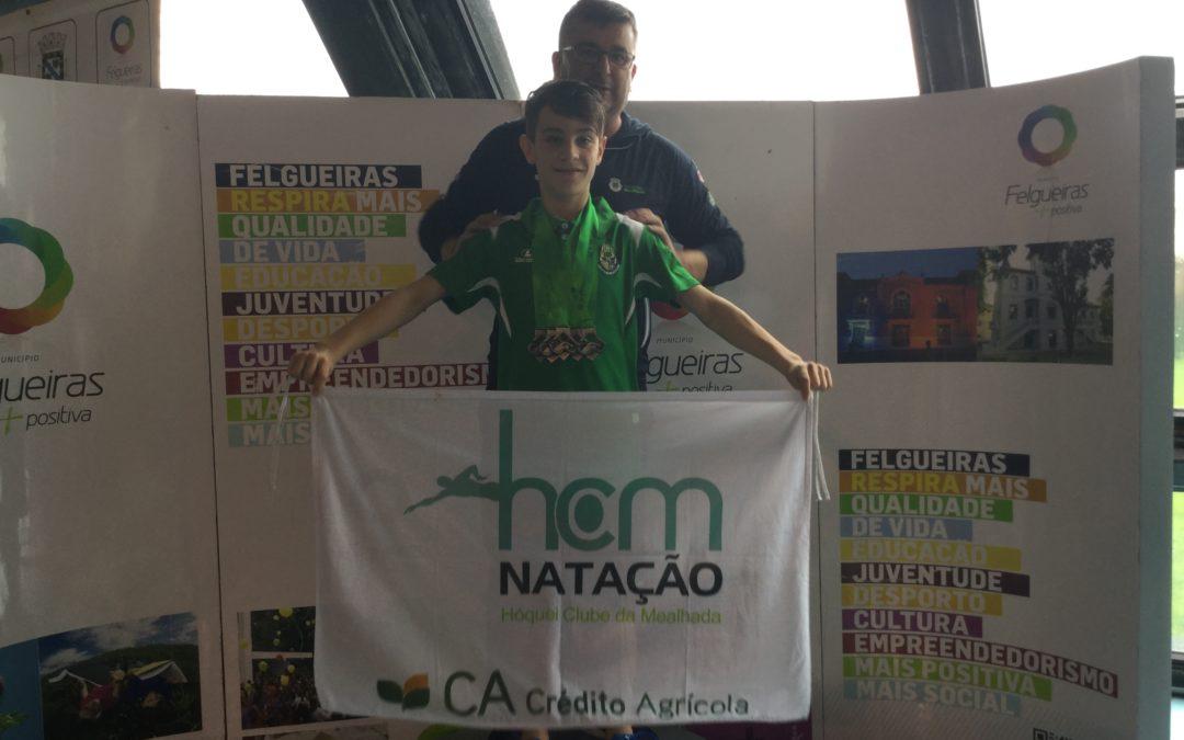 Eduardo Gabriel Vieira do HC Mealhada/Crédito Agrícola bate Record Regional 50 Livres Piscina Olímpica