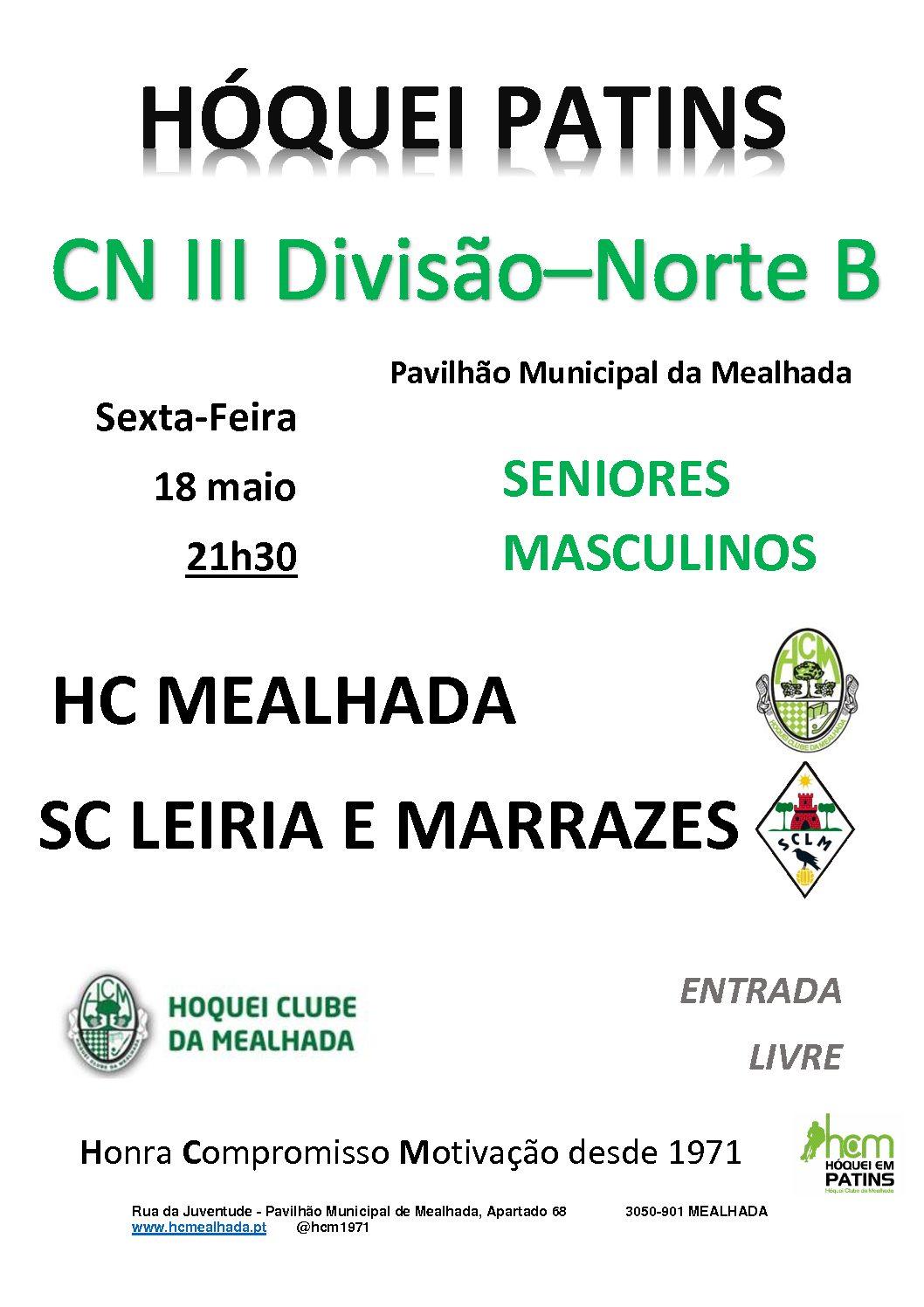 Séniores do HCM recebem hoje o SC Leiria e Marrazes