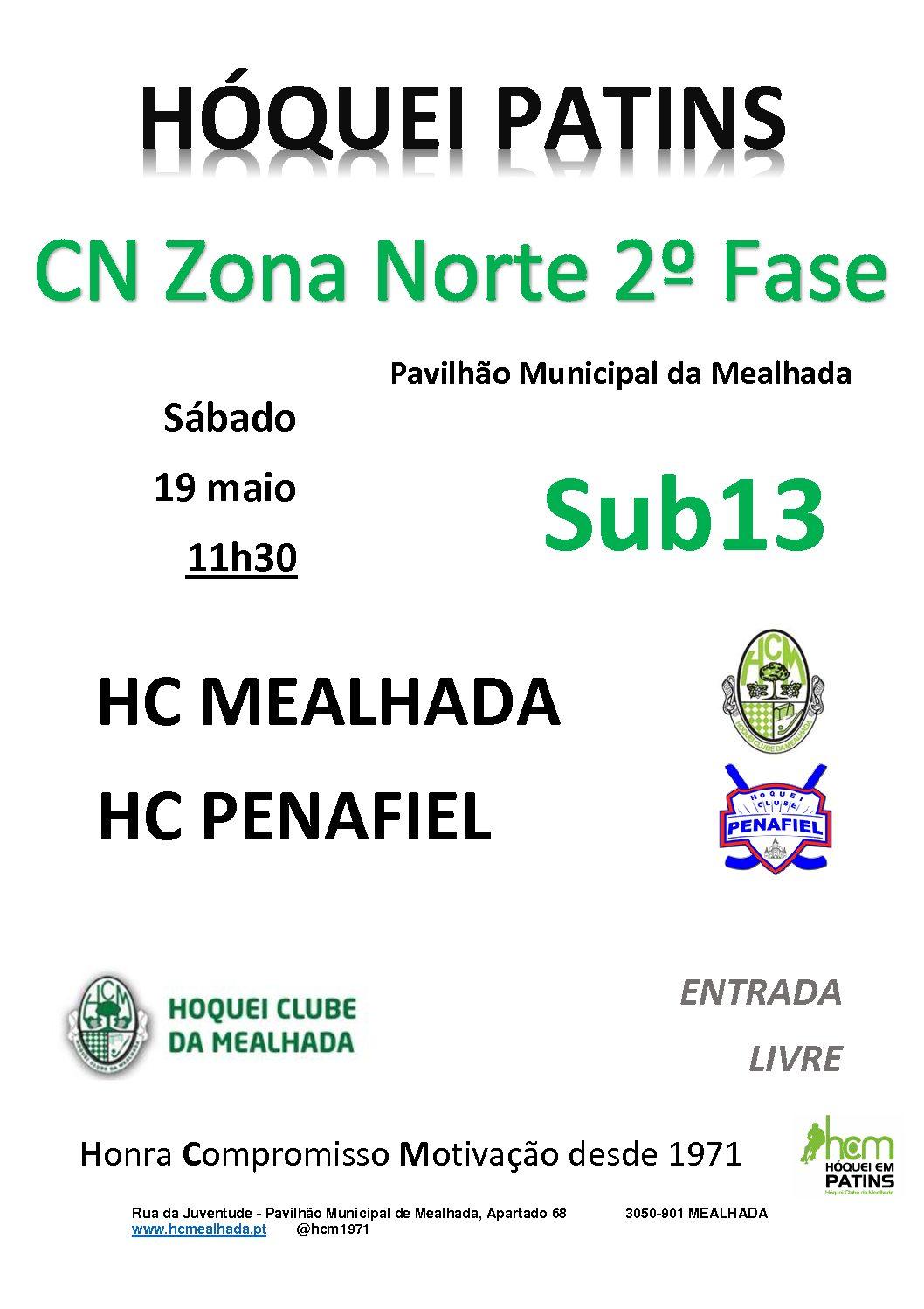 Sub13 defrontam amanhã em casa o HC Penafiel