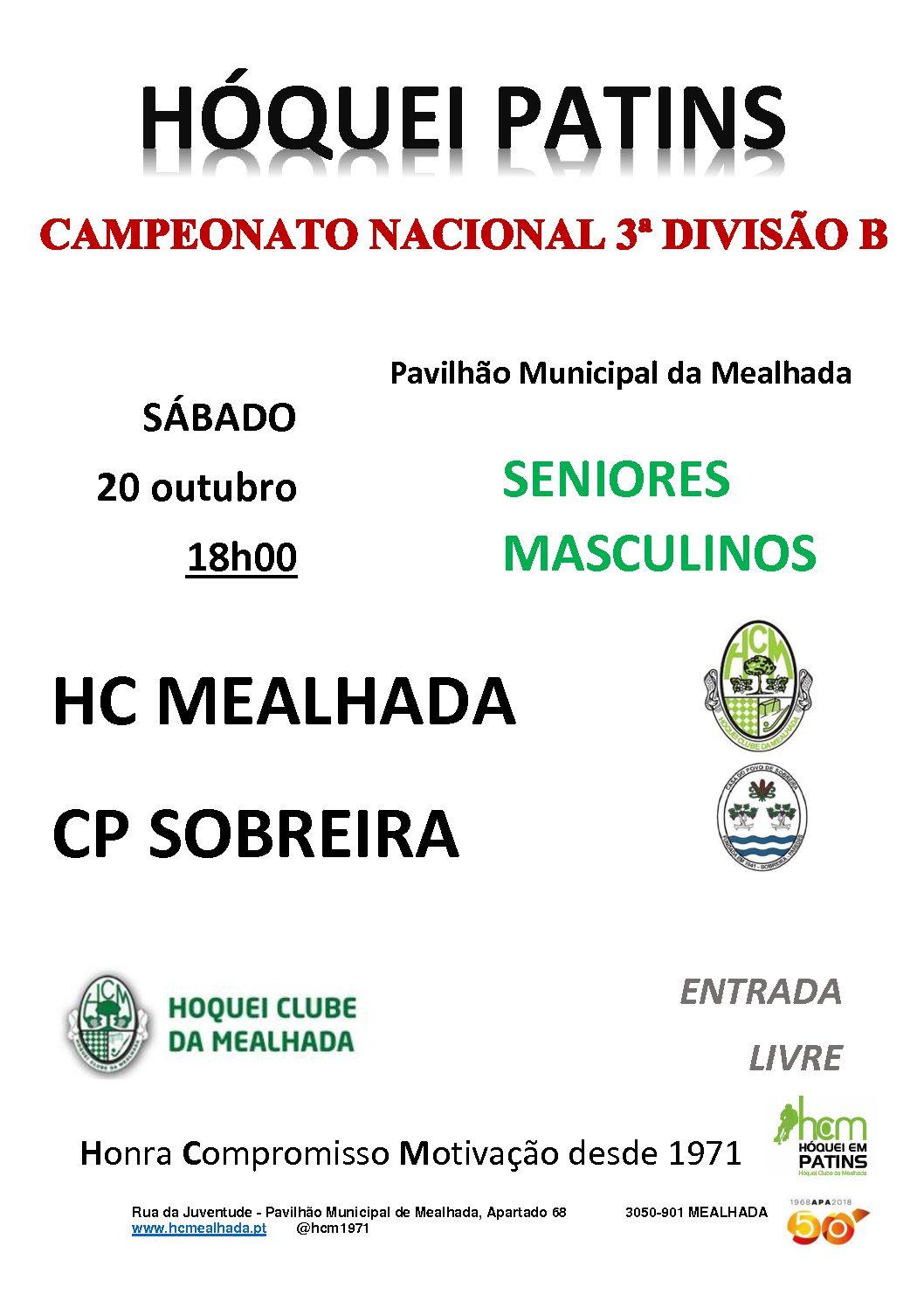 Séniores do HCM defrontam amanhã em casa o CP Sobreira