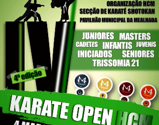 VI Karaté Open realiza-se a 25 de Abril